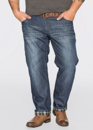 Термоджинсы Regular Fit Straight, John Baner JEANSWEAR, темно-синий