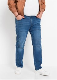 Джинсы стрейч карго Slim Fit Straight, John Baner JEANSWEAR